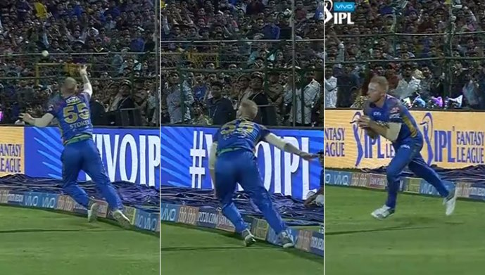 IPL 2018, RR v KKR: Ben Stokes Takes Catch Of The Season To Dismiss Robin Uthappa — WATCH