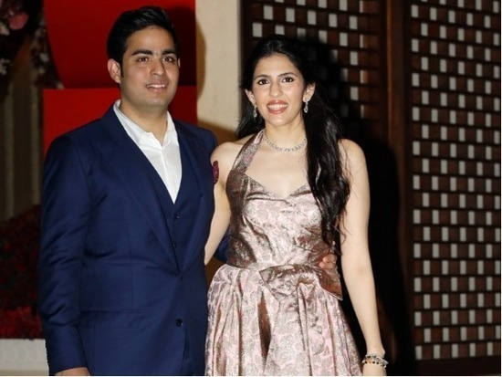 Akash Ambani, Shloka Mehta At Their Engagement
