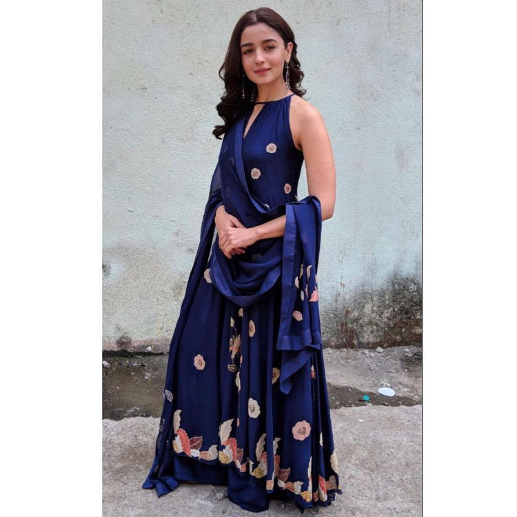 Alia Bhatt during Raazi promotions
