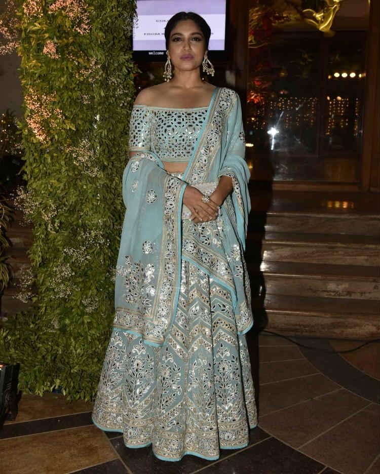 Bhumi Pednekar at a wedding reception