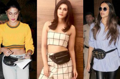 Bollywood actresses carrying fanny pack