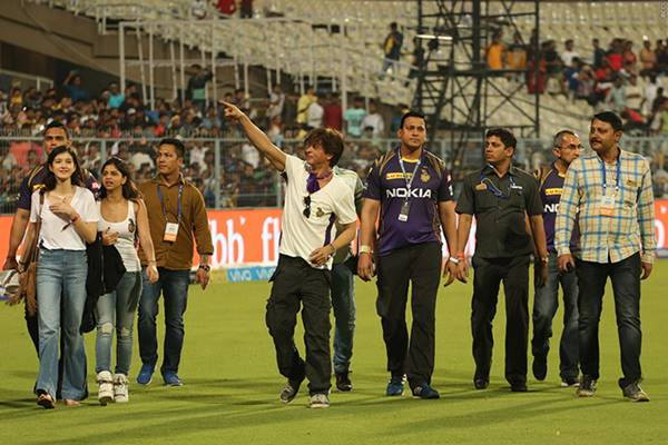 Shah Rukh Khan At Eden Gardens/ Photo: BCCI