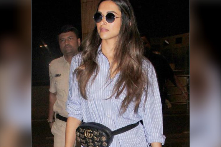 Deepika Padukone carrying a Gucci fanny pack