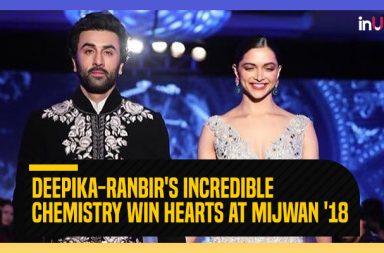 Deepika Padukone Ranbir Kapoor for Mijwan fashion show 2018