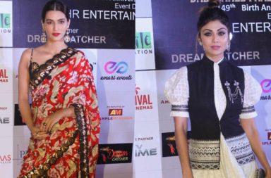 Kriti Sanon, Shilpa Shetty at Dada Saheb Phalke Excellence Awards 2018