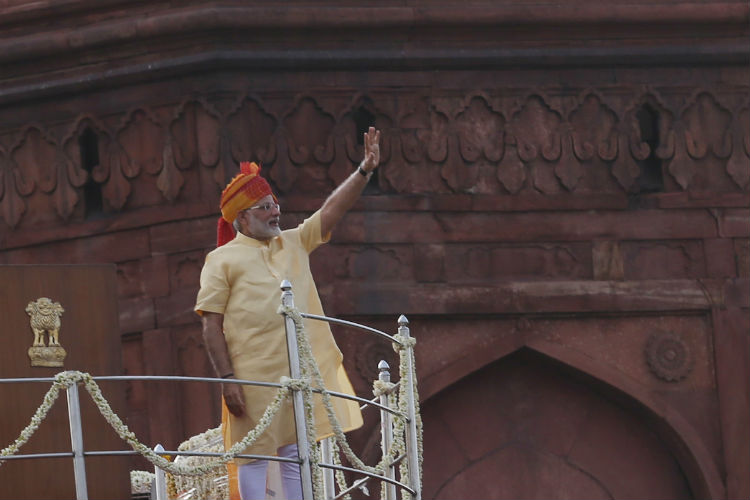 Narendra Modi, Red Fort