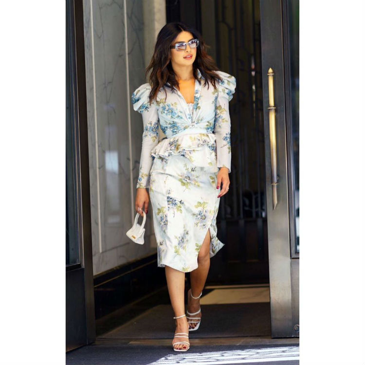 Priyanka Chopra in a floral attire from Brock collection