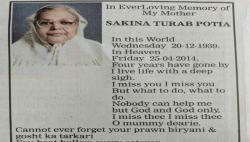 Missing Prawn Biryani To Loan Hassles: Daughter's Obituary For Her Mother Is A Must-Read
