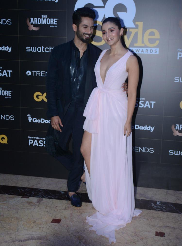 Shahid Kapoor, Alia Bhatt at GQ India Style Awards 2018