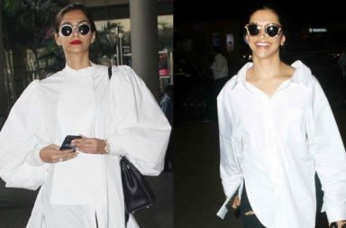 Sonam Kapoor, Deepika Padukone wearing boyfriend shirt
