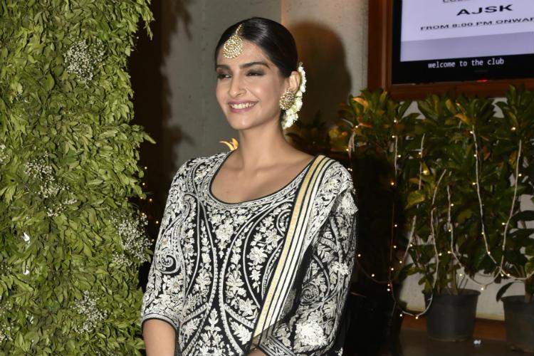 Sonam Kapoor at a wedding reception
