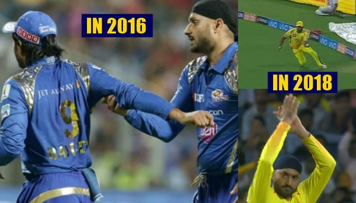 Image result for harbhajan Singh and Ambati Rayudu