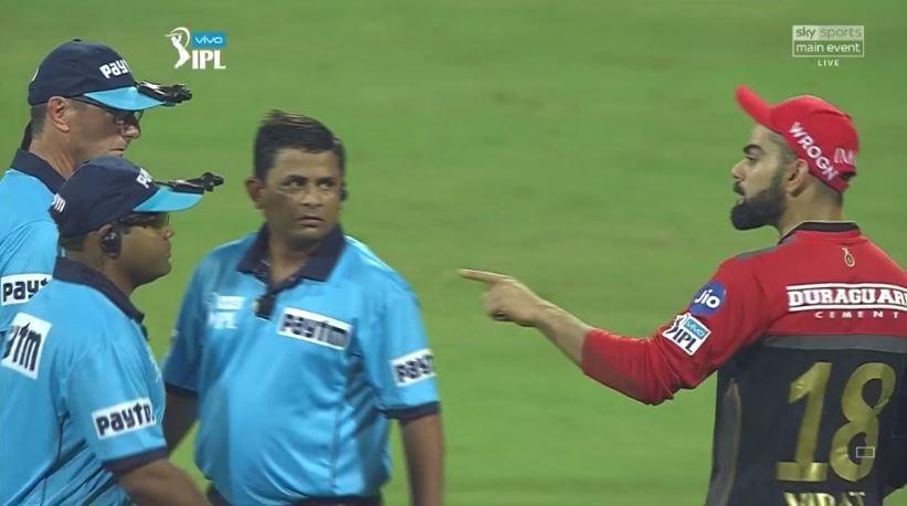 IPL 2018: Virat Kohli Gets Angry