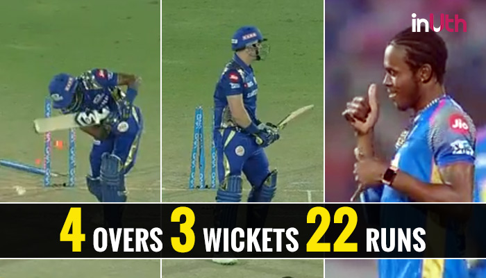 IPL 2018, RR vs MI: Rs 7.2 Crore Recruit Jofra Archer Takes 3 Wickets In An Over — Watch