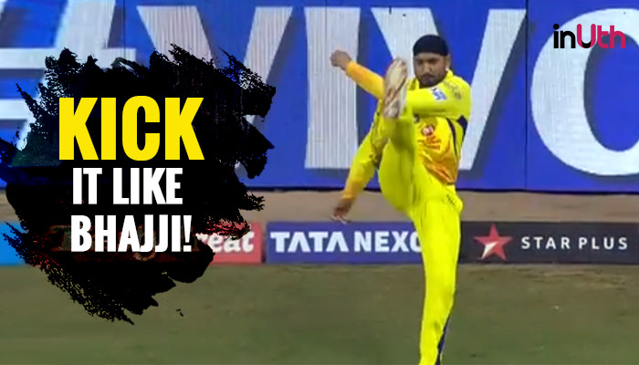 IPL 2018 MI vs CSK: Harbhajan Singh Kicks The Ball