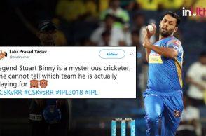 IPL 2018, CSK vs RR: Twitterati Troll 'Legend' Stuart Binny