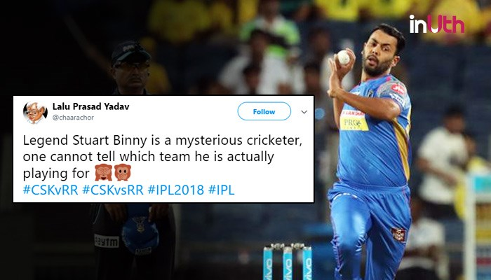 IPL 2018, CSK vs RR: Twitterati Troll 'Legend' Stuart Binny, Call Him A Mysterious Cricketer. Here's Why