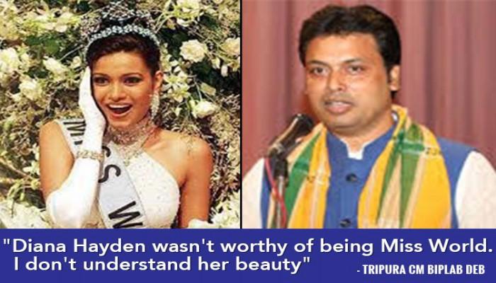 Tripura CM Biplab Deb Now Says Miss World '97 Diana Hayden Wasn't Worthy Of HerTitle