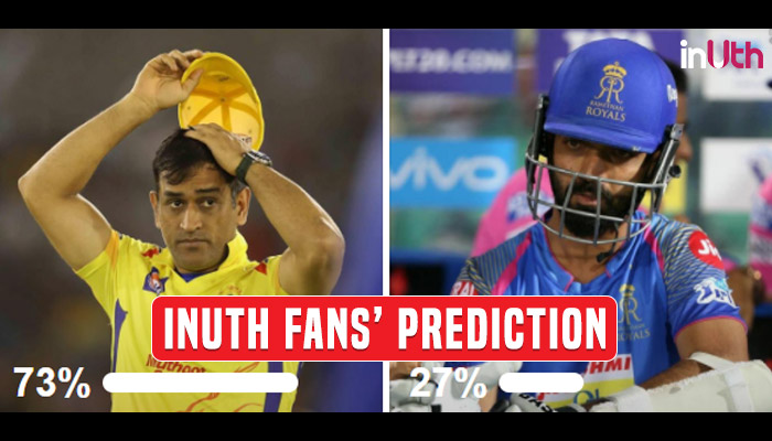 IPL 2018, CSK vs RR, Match 17: MS Dhoni & Co. To Beat Rajasthan At Home Away From Home — InUth Poll Prediction