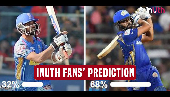 IPL 2018, MI vs RR, Match 21: Rohit Sharma's Men Should Win It High & Dry — InUth Poll Prediction