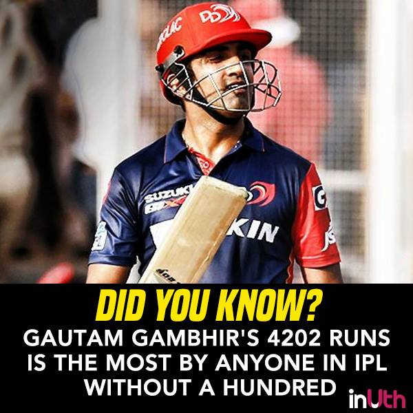 Some 'Gambhir' Stats About Gautam