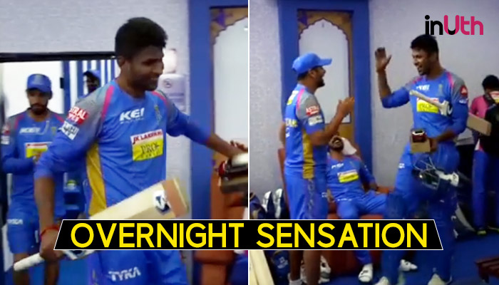 IPL 2018: When K Gowtham Entered Dressing Room To A Hero's Welcome After Match-Winning Knock — WATCH