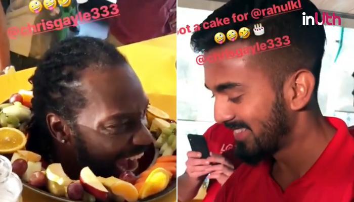 Ipl 2018 Chris Gayle Presents Himself As A Cake On Kl Rahuls