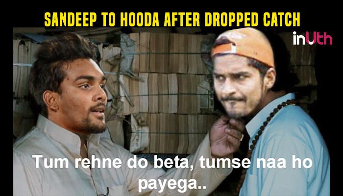 Sandeep Sharma After Deepak Hooda Loses Catch