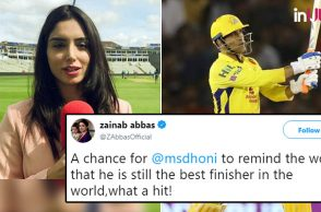 Zainab Abbas MS Dhoni, Zainab lauds Dhoni, Pakistani journalist trolled, Zainab Abbas trolled, MS Dhoni 70 vs RCB, MS Dhoni best finisher, MS Dhoni last-ball six vs RCB, Royal Challengers Bangalore vs Chennai Super Kings, RCB vs CSK, Chennai Super Kings vs Royal Challengers Bangalore, CSK vs RCB, IPL 2018, IPL Live, IPL 2018 Live, VIVO IPL, VIVO IPL 2018,