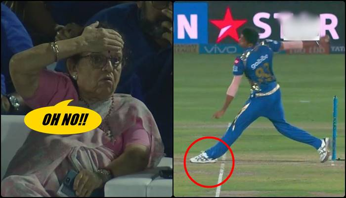 IPL 2018, MI vs RR: Jasprit Bumrah's NO-BALL Makes Prayer Aunty Nervous. Twitter TROLLS Follow