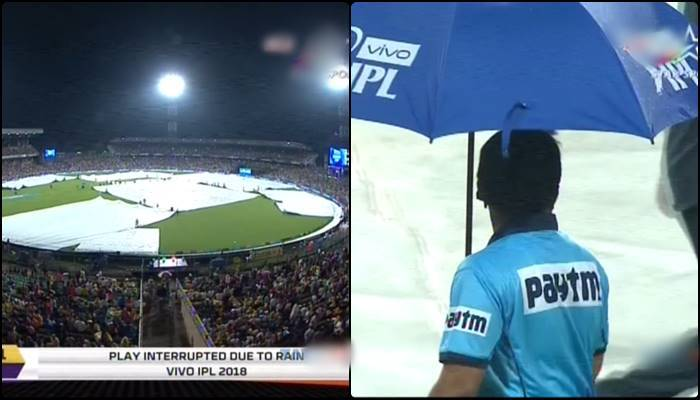 KKR vs SRH match stopped due to rain