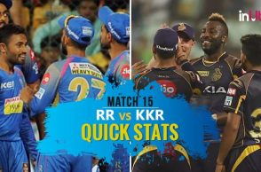 IPL 2018, RR vs KKR, Match 15, Quick Stats: