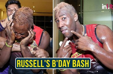 IPL 2018: Andre Russell Gets 'Cake Facial' On 30th Birthday After KKR Beats RCB — See Pics