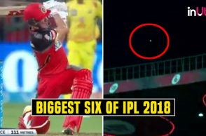 AB de Villiers longest six IPL, IPL 2018 longest six, IPL 2018 longest six list, AB de Villier six out of stadium, AB de Villiers 60 vs CSK, Royal Challengers Bangalore vs Chennai Super Kings RCB vs CSK, Chennai Super Kings vs Royal Challengers Bangalore, IPL 2018, IPL Live, IPL 2018 Live, VIVO IPL, VIVO IPL 2018, M. Chinnaswamy Stadium, Bengaluru