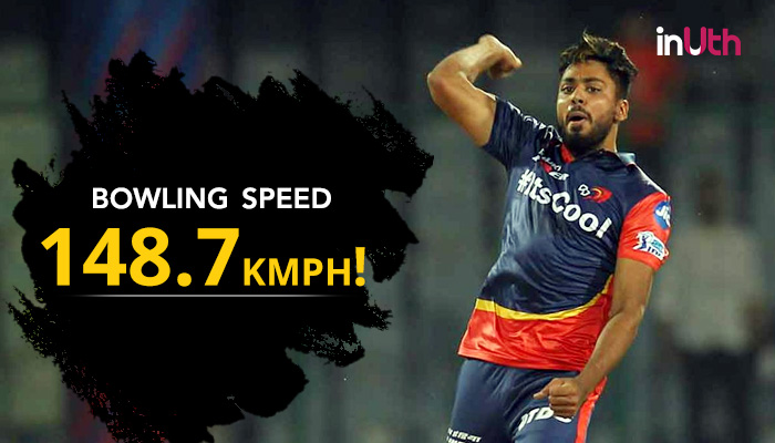 IPL 2018, DD vs KXIP: Speedster Avesh Khan Stuns Aaron Finch With A '148.7 kmph' Delivery — Watch