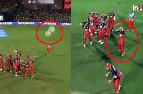 Mandeep Singh, Virat Kohli, Mandeep Singh hits spider-cam, Royal Challengers Bangalore vs Chennai Super Kings, RCB vs CSK, Chennai Super Kings vs Royal Challengers Bangalore, CSK vs RCB, IPL 2018, IPL Live, IPL 2018 Live, VIVO IPL, VIVO IPL 2018