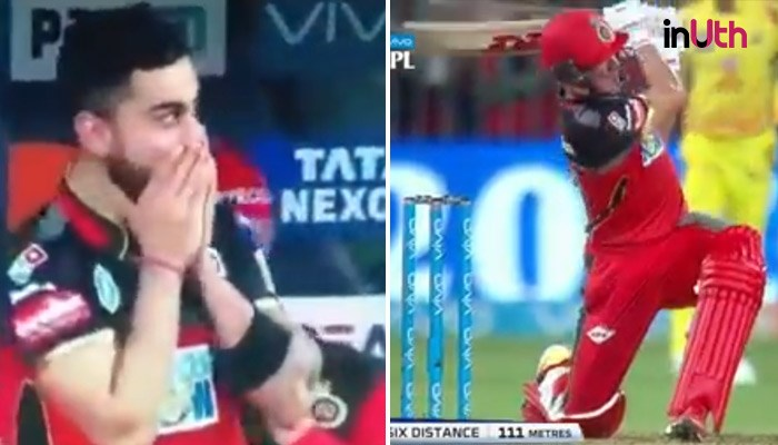IPL 2018: Virat Kohli's Reaction To AB de Villiers' Longest Six Is Priceless — WATCH