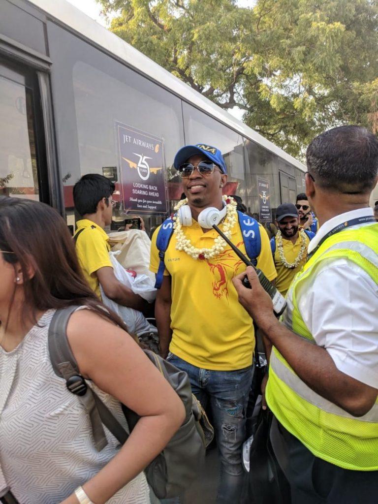 Bravo at Chennai (PIC: CSK Twitter