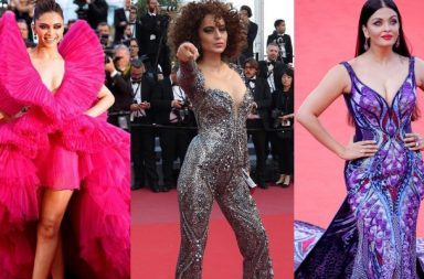 Deepika, Kangana and Aishwarya at the Cannes 2018