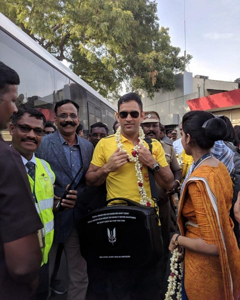 Dhoni at Chennai (PIC: CSK Twitter