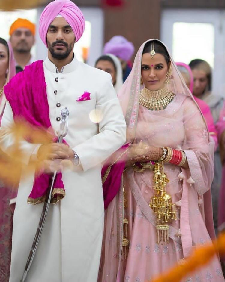 Neha Dhupia ties the knot with Angad Bedi