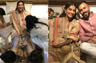 Sonam Kapoor, Anand Ahuja at their Mehendi ceremony
