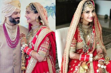 Sonam Kapoor, Anand Ahuja at their wedding