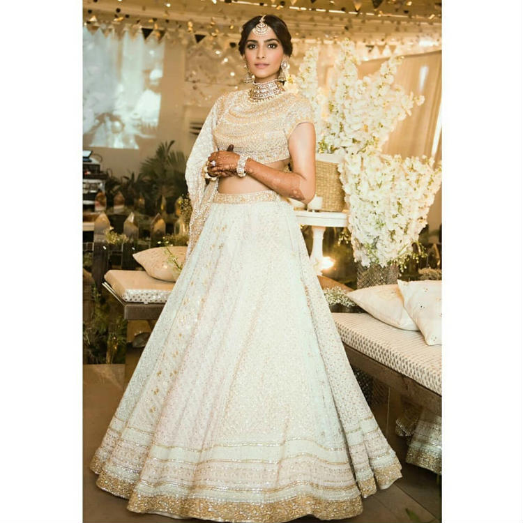 Sonam Kapoor at her sangeet ceremony
