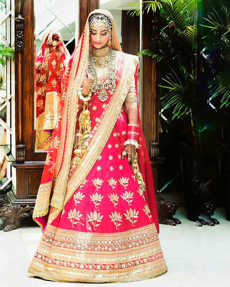 Sonam Kapoor at her wedding