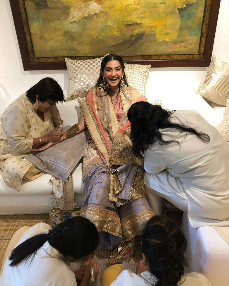 Sonam Kapoor's Mehendi ceremony