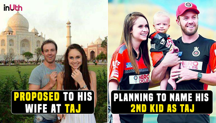 IPL 2018 Impressed With Taj Mahal AB De Villiers Wishes To Name His 2nd Child Watch