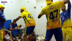 IPL 2018: Here's What Happened Inside CSK's Dressing Room Post Win Over SRH - WATCH