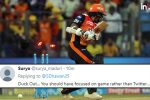 IPL 2018, SRH vs CSK, Qualifier 1: Shikhar Dhawan Gets Out On Golden Duck, Twitterati Say 'Focus On Batting Than Twitter'