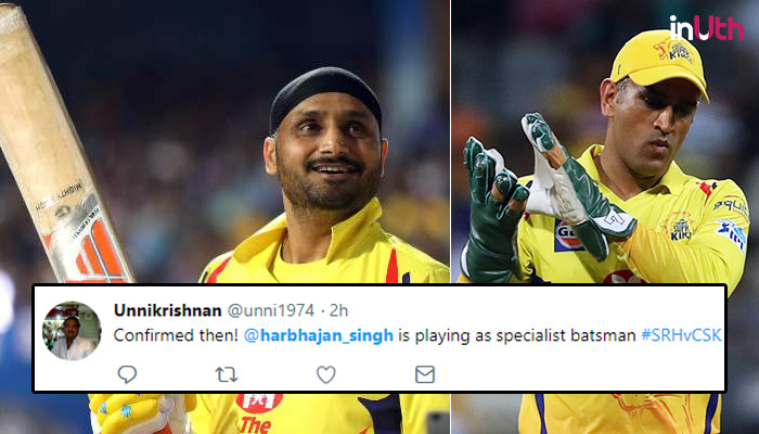 IPL 2018: Harbhajan Singh Not Given A Single Over By MS Dhoni, Tweeple Declare Him Specialist Batsman